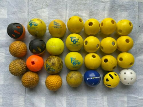 27 USED TRAINING BALLS - WEIGHTED, RUBBER, & PLASTIC