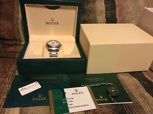 AUTHENTIC ROLEX DATEJUST 116200 STEEL WHITE ROMAN OYSTER