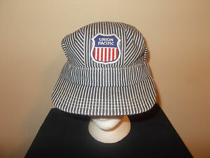 VTG-1960s/70s Union Pacific sanforized train engineer conductor ops hat sku12