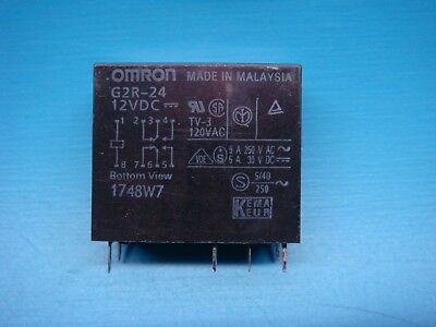 1 Omron G2r-24-dc12 General Purpose Power Relay Dpdt-nonc 12v Pcb Mount
