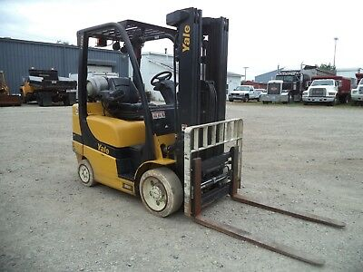 2014 Yale 60vx 6000 6000 Cushion Tired Forklift 84181 3 Stage Ss Fp