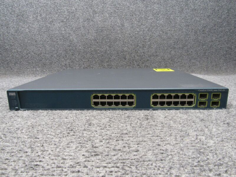 Cisco Catalyst Ws-c3560g-24ps-s V06 24-port Networking Switch *no Rack Ears*