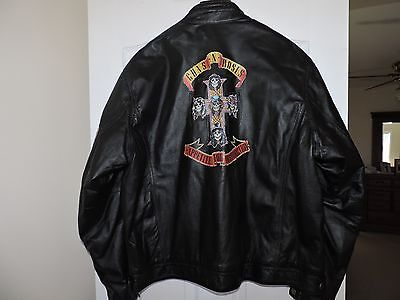 Vintage Unworn / NWOT Wilsons Genuine Leather Jacket Guns N Roses XXL