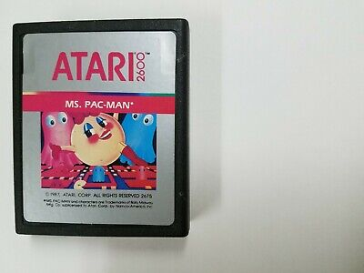 Ms. Pac-Man (Atari 2600) Contacts Cleaned, Tested And Working