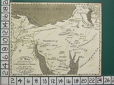 c1810 GEORGIAN MAP ~ JOURNEYS OF THE CHILDREN OF ISRAEL EGYPT to CANAAN
