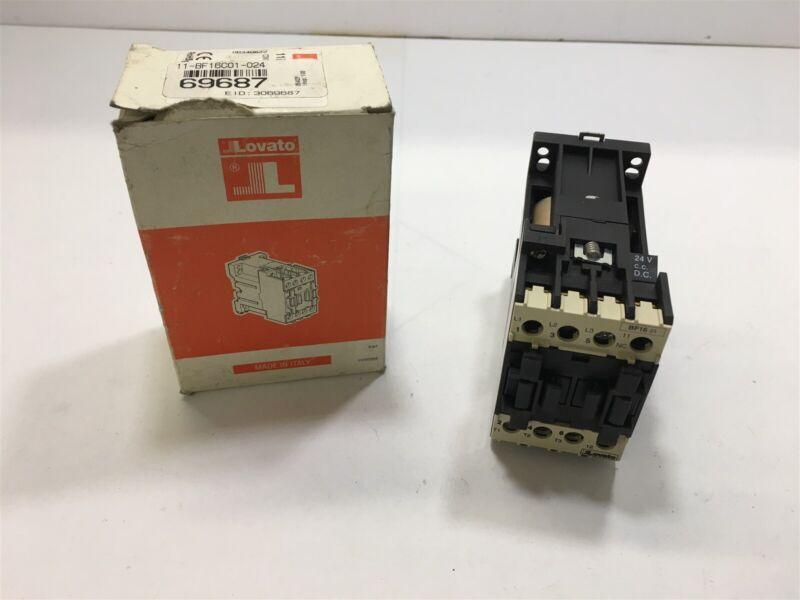 LOVATO BF16C CONTACTOR 3 POLE, 480 VOLTS @ 7-1/2 HP, 24 VDC COIL