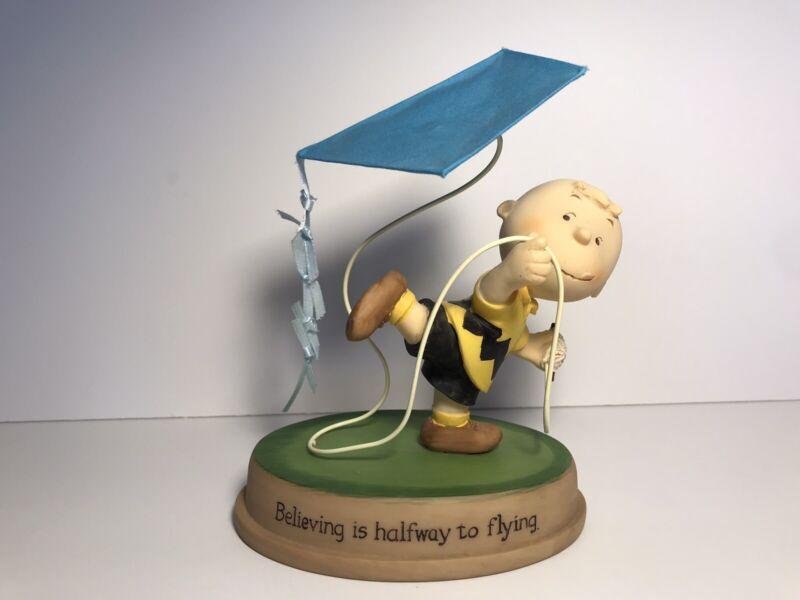 """Peanuts CHARLIE BROWN """"BELIEVING IS HALFWAY TO FLYING"""" Hallmark 2011"""