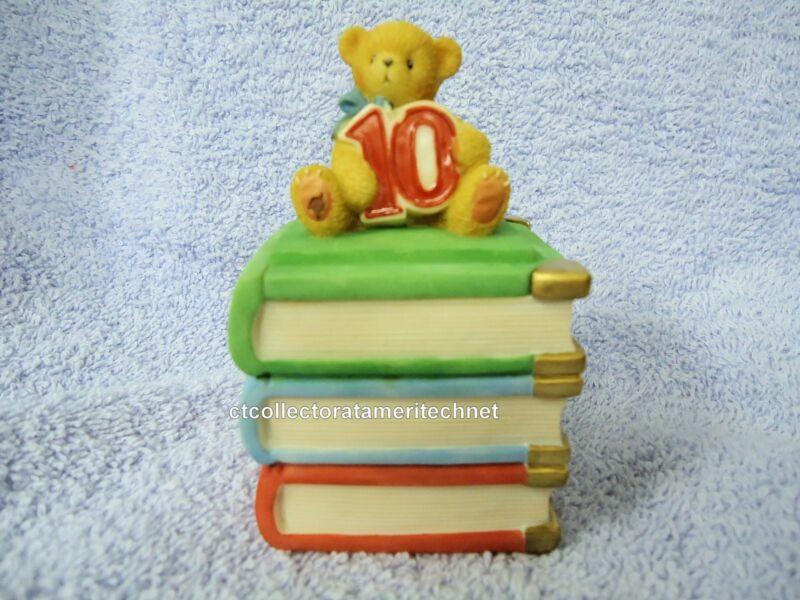 Cherished Teddies Covered Box Birthday Age 10  2001 NIB