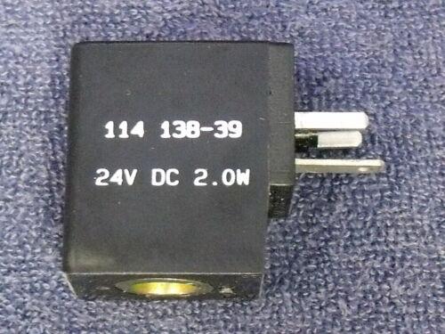 ARO / Ingersoll-Rand 24VDC, 2.0 Watt, Stacking Solenoid Valve Coil ~ 114-138-39