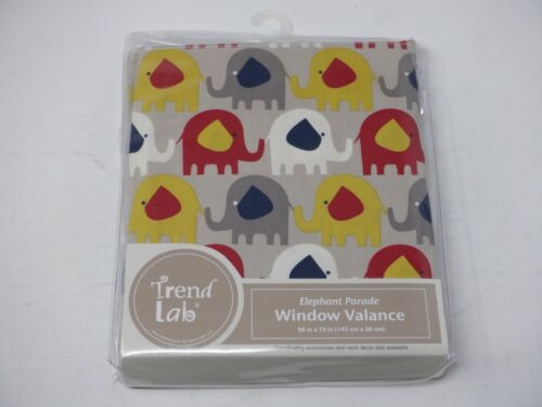 Elephant Parade Window Valance 56 in x 15 in Trend Lab Sealed New GM2279