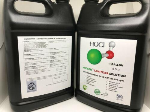 Hypochlorous Acid (HOCL) 500 ppm Sanitizer/Disinfectant Solution 1 gallon