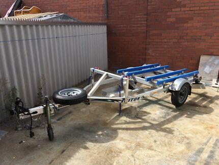 Triton customised Aluminum double stand up Jetski trailer