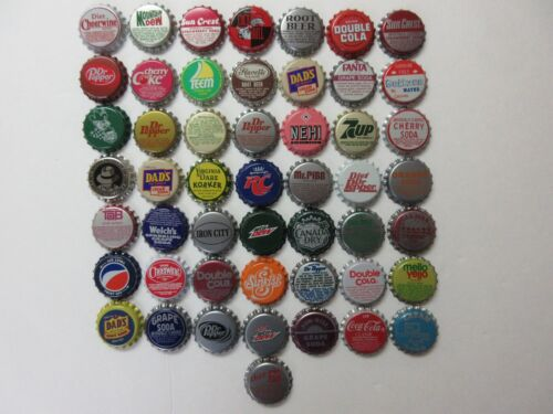 50= OLD SODA BOTTLE CAPS=NICE CONDITION=NEVER USED=