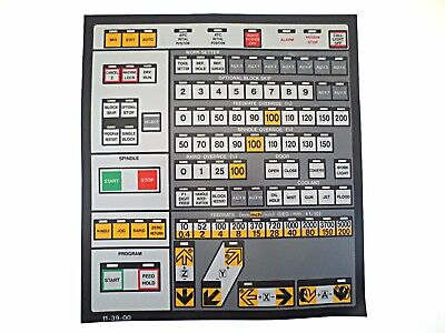 Cnc Machine Keypad Replacement Membraneoverlay 11-39-00. Nos