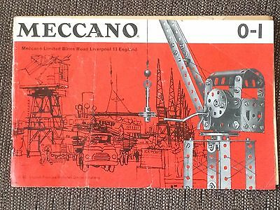 Meccano Instructions 0-1 Rare Vintage Booklet 1960s