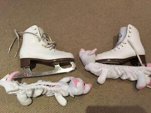 Glacier 120 by Jackson Girl's figure skates w/guards-size 2