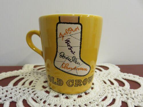 "Vintage Kentucky Whiskies ""Old Crow"" Coffee Cup Old Crow Distillery FrankFort KY"