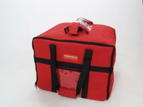 STAIN / WATER RESISTANT Insulated Food Delivery Bag/ CATERING BAG.RED._