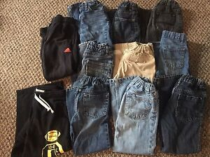 Boys size 6 jean lot all with adjustable waist great shape