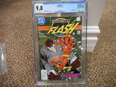 Flash 9 cgc 9.8 1st appearance Chunk DC 1988 WHITE pgs BLACK cover TV JLA movie