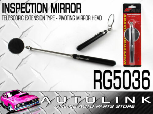 INSPECTION MIRROR - TELESCOPIC TYPE EXTENDS TO 910mm WITH PIVOTING MIRROR HEAD