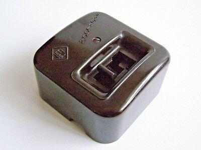 Vintage PRENTO Prenlock Bakelite & Ceramic 250v 15a Switch Art Deco