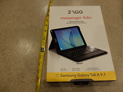 ZAGG Messenger Folio Case and Bluetooth Keyboard for Samsung Galaxy Tab A 9.7 for sale  Shipping to India