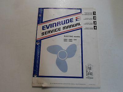 1980 Evinrude Electric EB52 EB82 E4H EB54 EB84 Service Repair Manual DAMAGED OEM