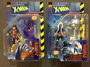 2 vintage Toy biz X-men robot fighters Storm & Jubilee Sentinel