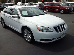 2014 CHRYSLER 200 LIMITED- POWER GLASS SUNROOF, LEATHER HEATED S