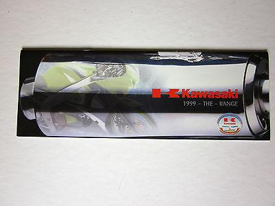 Kawasaki Motorcycle range brochure 1999 fold out. clean.
