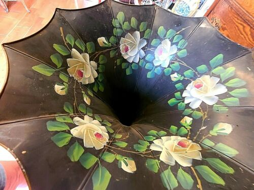 Antique Morning Glory T C T Large Record Player Horn Circa 1905 ~We Ship!