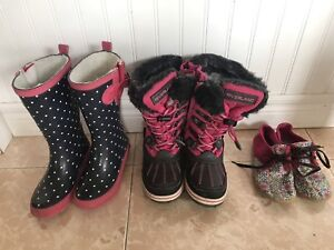 Souliers (shoes), bottes hiver (boots) fille (girl) - GEOX, etc