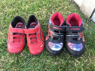 2x Boys Trainers, Spiderman & Puma Size Infant 9