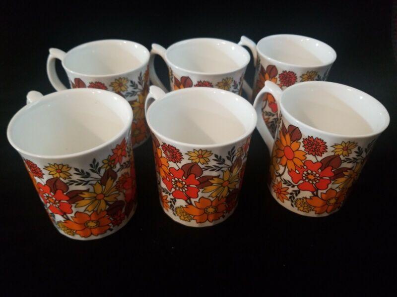 Elizabethan fine bone china mug set(6 matching mugs) from England