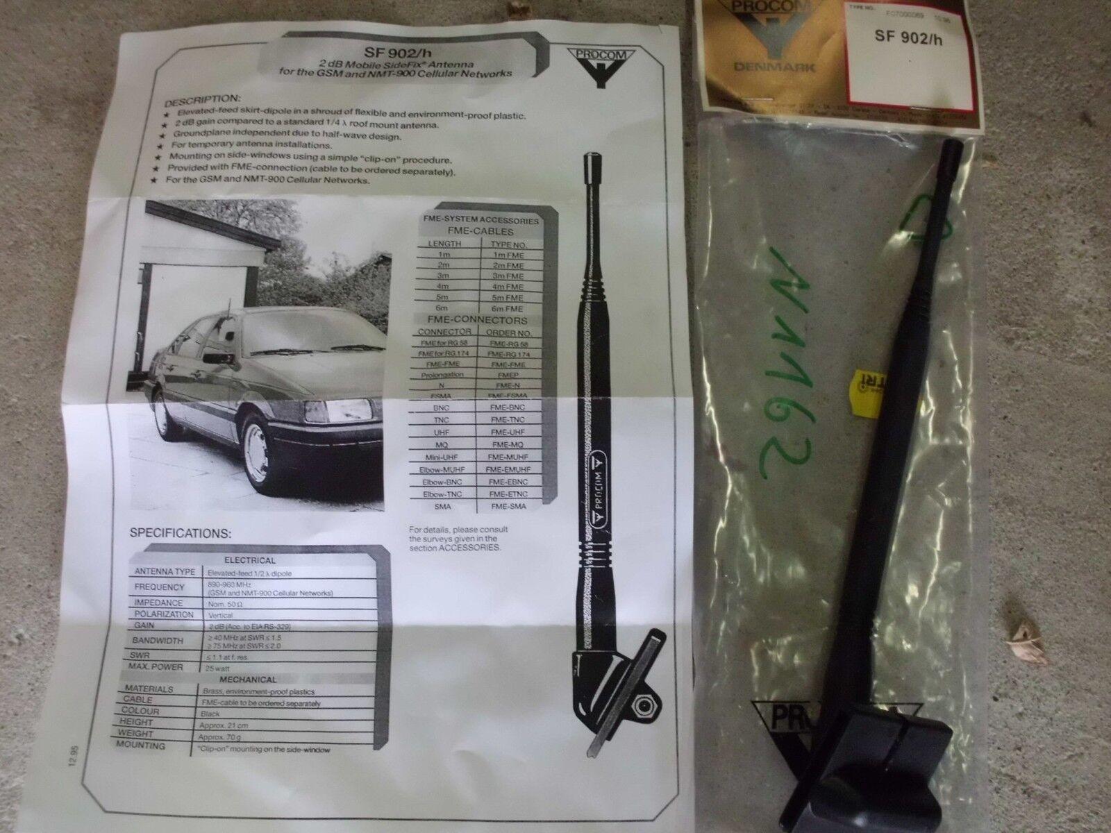 GSM Handy Antenne Scheibenantenne Procom SF 902/h 900 MHz
