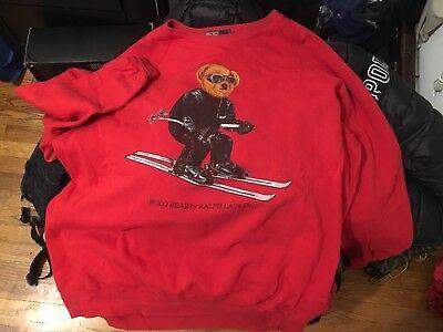 Polo By Ralph Lauren Men's XL RL 2000 Bear Sweatshirt 1992 SnowBeach