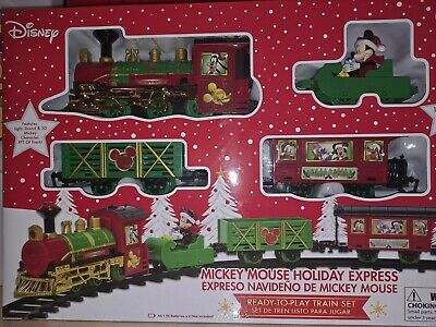 New Disney Mickey Mouse Holiday Express 12 Piece Train and track Set