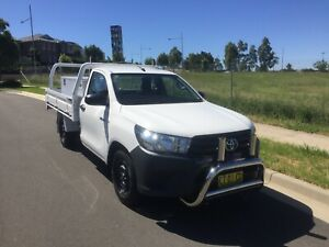 2017 Toyota Hilux Workmate Ute with Heavy duty steel tray.