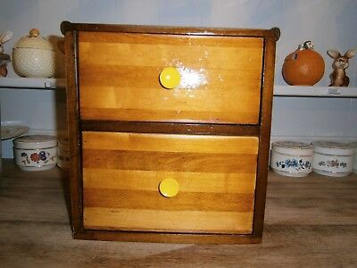 Vintage Miniature Chest of Two Drawers, Apprentice Piece 10