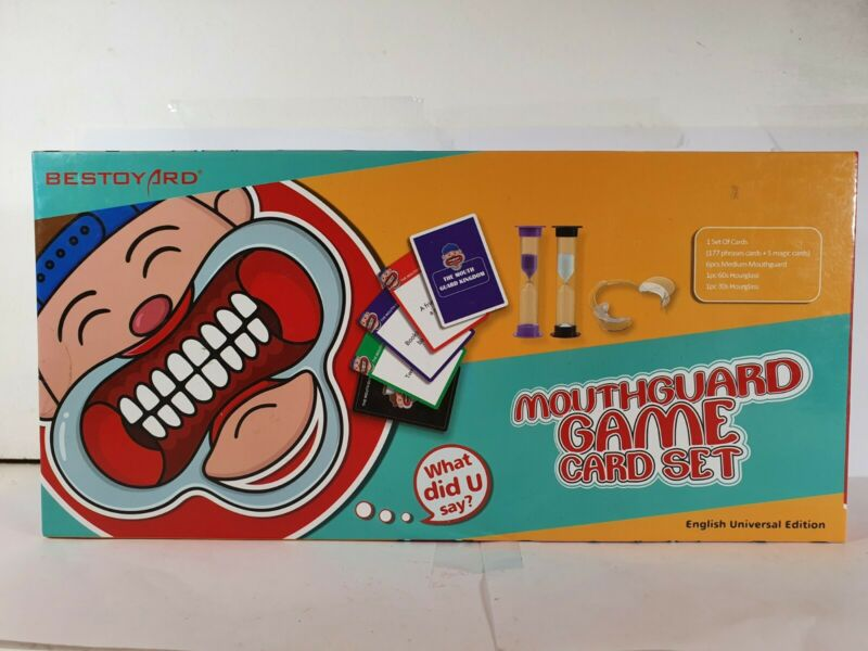 Mouthguard+Game+Card+Set+w%2F+MouthGuards+Hourglass+Cards+Family+Party+Sealed