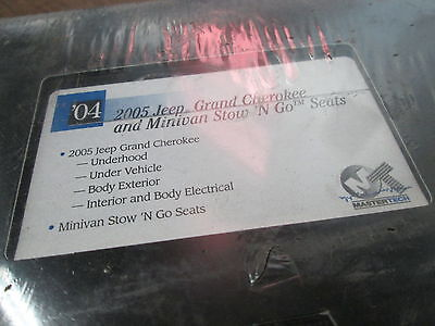 Owner Mastertech 2004 2005 VHS Jeep Grand Cherokee Mini Van Stow N Go Seats Video