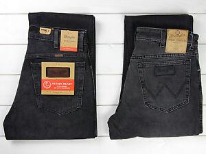 NUEVO-Wrangler-Texas-Elasticos-Jeans-Negro-Gris-Corte-Recto-Todas-Las-Tallas