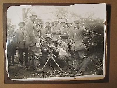ANTIQUE WW1 GERMAN PHOTO ALBUM FRANCE BELGIUM TRENCH GRAVES GRAPHIC ARTILLERY