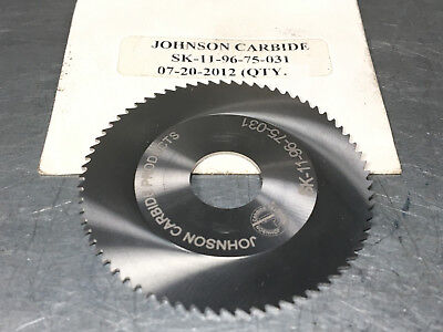 Johnson Carbide .031 Carbide Slitting Saw 2 X 12 X .031 Jeweler Blade