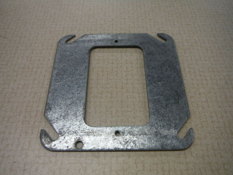 Steel City Junction Box Cover 4x4 With Narrow Cut Out