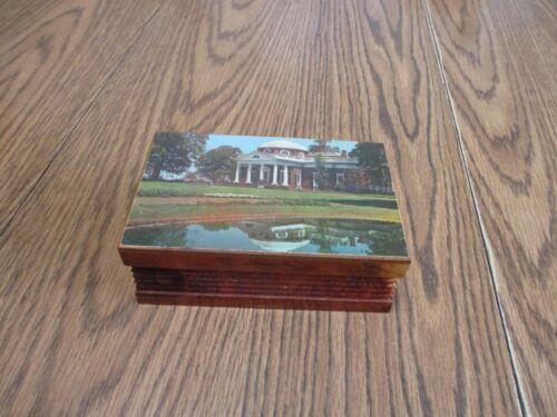 MONTICELLO CHARLOTTESVILLE VA WOOD TRINKET BOX JEWELRY BOX