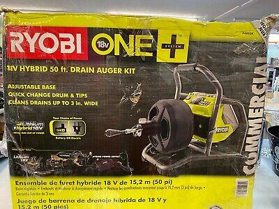 Ryobi 18-volt One Hybrid Drain Auger Kit With 50 Ft. Cable 18v Battery