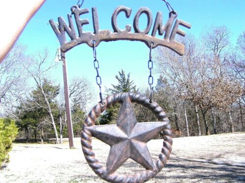 Cast Iron Star WELCOME sign