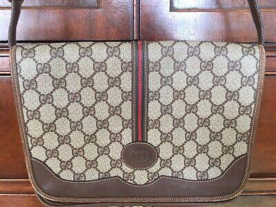 Rare GUCCI Shoulder Bag Purse Vintage Brown GG Monogram VGUC